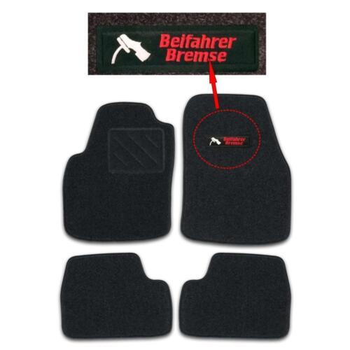 RAU Fußmatten graphit BEIFAHRERBREMSE Opel Astra H Cabrio Twin Top ab Bj 5//06