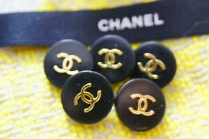 Five-Stamped-Chanel-buttons-5-pieces-metal-cc-0-8-inch-20-mm