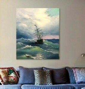 sailing-ship-wave-landscape-wall-art-canvas-ocean-beach-nautical-seascape-blue