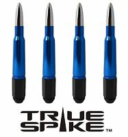 16 Vms Racing 7 Inch 12x1.5 Lug Nuts W/ Blue Chrome 50 Cal Bullet Spikes B