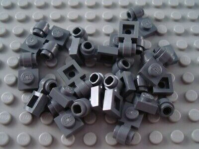 New LEGO Lot of 8 Light Bluish Gray 1x1 Rounded Top Clip Tiles