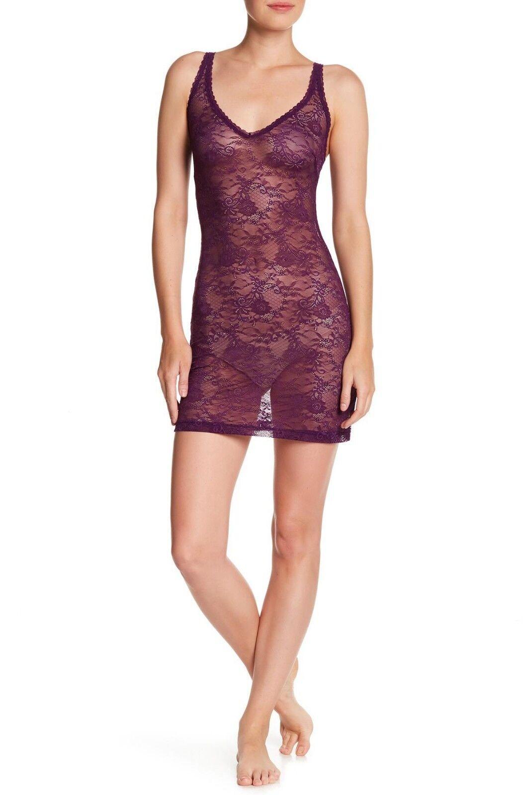 Cosabella TRENTA Plum Purple Stretch Nylon All Over Lace Slip - L