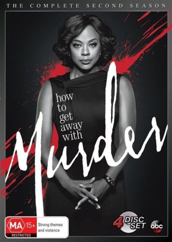 1 of 1 - How To Get Away With Murder : Season 2 (DVD, 2016, 4-Disc Set) New & Sealed
