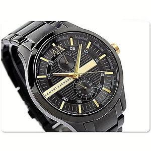 f07ab86a24b NWT Armani Exchange Men s Watch Black SS Bracelet   Gold SMART 48MM ...