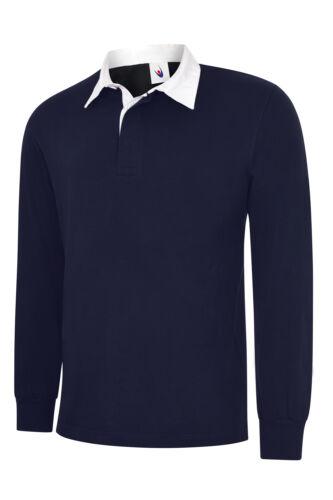 Uneek UC402 Premium Quality Classic Rugby Polo Shirt 100/% Premium Cotton