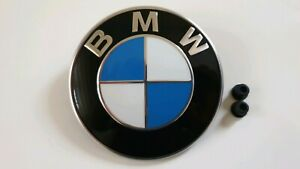 Original-BMW-Emblem-Motorhaube-82-mm-Durchmesser-2-Tuelle-gratis-Top-Preis