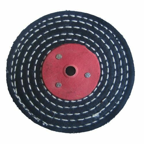 "Pro-Max Colour Stitch 4/"" x 1//2/"" Metal Polishing Buffing Wheel Mop"