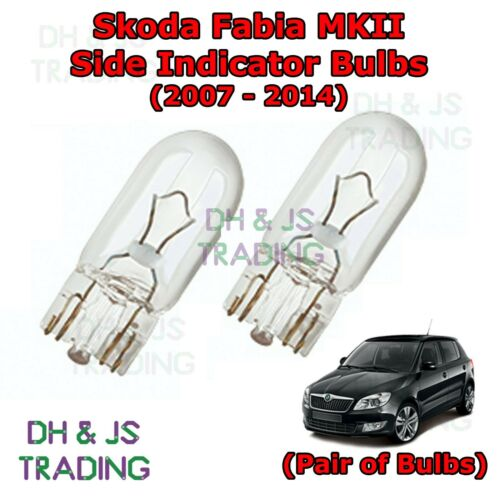 07-14 Skoda Fabia Side Indicator Bulbs Side Indicator Bulbs Bulb Lights MK2
