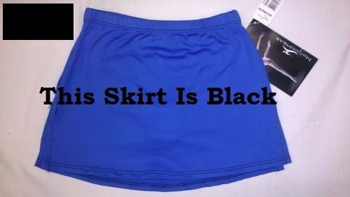 Motionwear 8096 Women/'s Size Large Black Tactel Nylon Skating Skirt