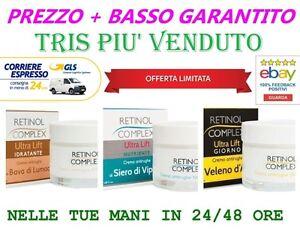 RETINOL-COMPLEX-3-CREME-ANTIRUGHE-CREMA-BAVA-LUMACA-VELENO-D-039-APE-SIERO-DI-VIPERA