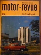 Tschechoslowakische MOTOR REVUE 3 - 1972 (2) Auto-Cross Skoda CZ Moto Cross