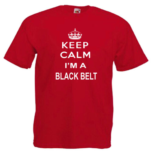 Keep Calm Black Belt Karate Children/'s Kids T Shirt