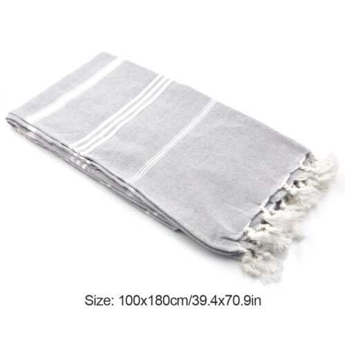 100*180 cm Beach Bath Towel 100/% Cotton Turkish Tassel Hammam Easy to Carry Bath