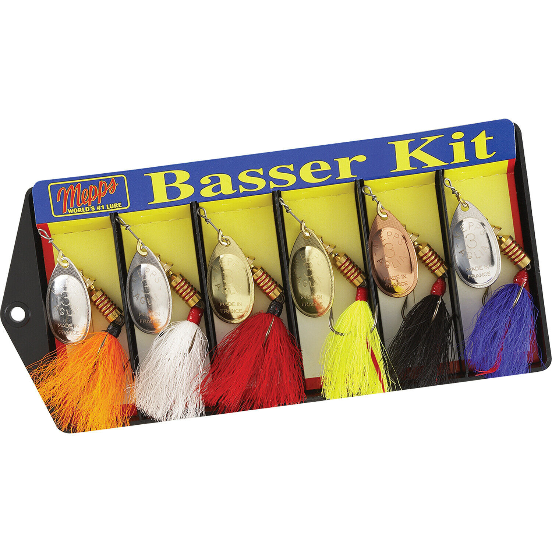 Mepps Basser Kit Dressed  3 Aglia Assortment  Hand assembled in USA  500676