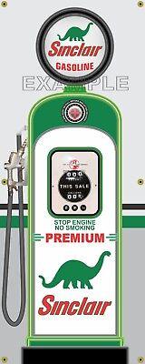 SINCLAIR DINO GAS PUMP STATION SCENE WALL MURAL SIGN BANNER GARAGE ART 8/' X 11/'