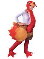 Funny Novelty Christmas Ride On Thanksgiving Turkey Fancy Dress Costume Mascot