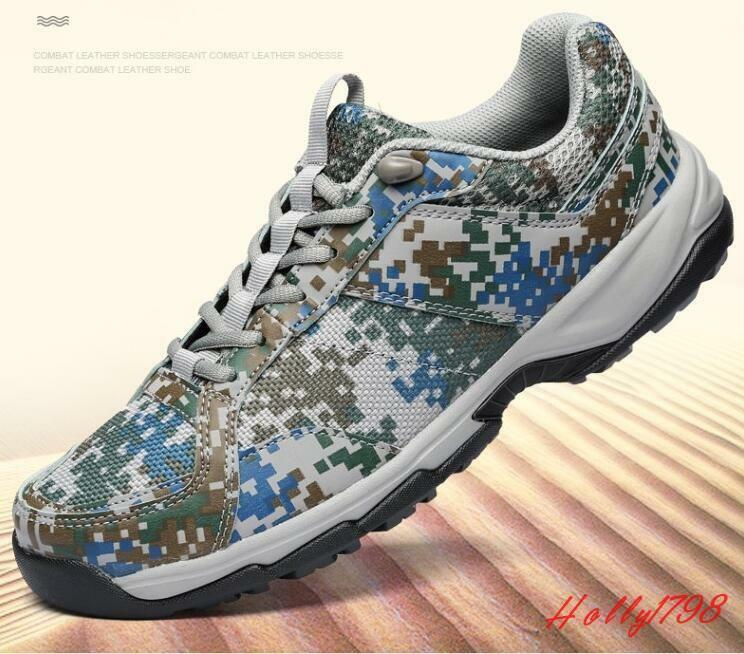 Fashion Mens Camo Sport Sneakers Casual Lace up breathable Mesh training shoes