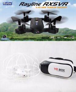 Kamera Drohne Selfie Drohne X5VR - Rayline RC Quadrocopter mit VR 3D Brille!