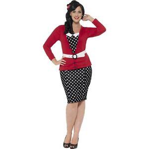 Pin Up Anni 50.Dettagli Su Women S Curve Curvy Anni 50 Pin Up Fancy Dress Costume Rockabilly Bettie Boop Mostra Il Titolo Originale