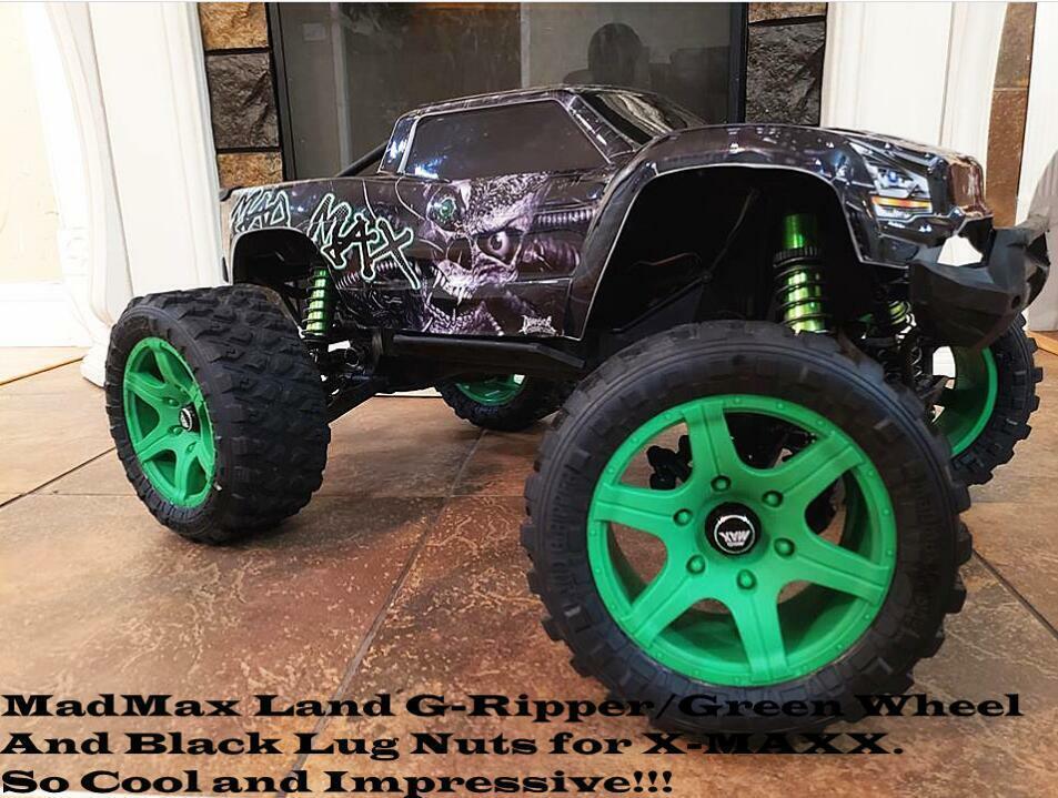 220MMX106MM  rueda tire tyre + rueda nut adapter for Traxxas X-maxx + strumento 6s 8s  vendite online