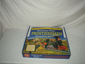 AMERICAN-FLYER-REPRO-FRONTIERSMAN-SET-BOX-ONLY-FOR-3-CARS-NO-TRAINS-OR-CARS