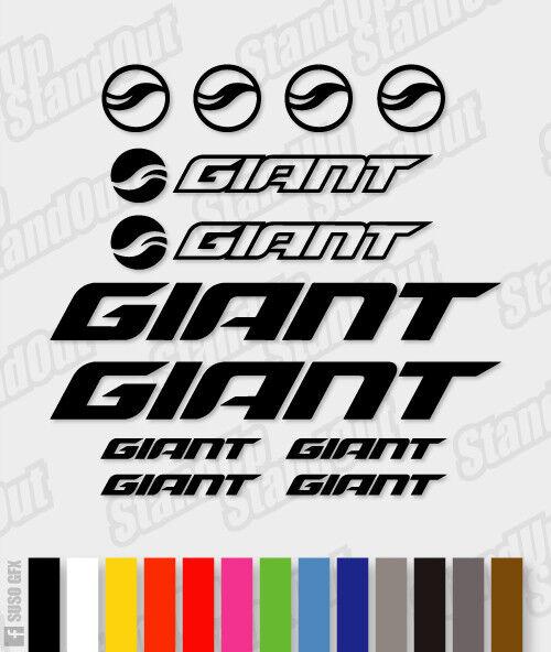 Giant Sticker Die-Cut Decal Sticker Giant feuille (cyclisme, vtt, bmx, Vélo, Cadre) - V6 0936b0