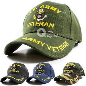 US-Military-Army-Veteran-Adjustable-Polo-Baseball-Cap-Hat-Navy-Marine-Air-Force