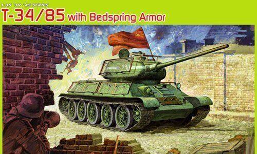 Dragon 6266 1 35 Russian T-34 85 w Bedspring Armor