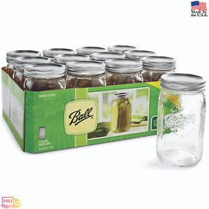 12-PACK-32-oz-Mason-Quart-Jars-with-Lids-and-Bands-Wide-Mouth