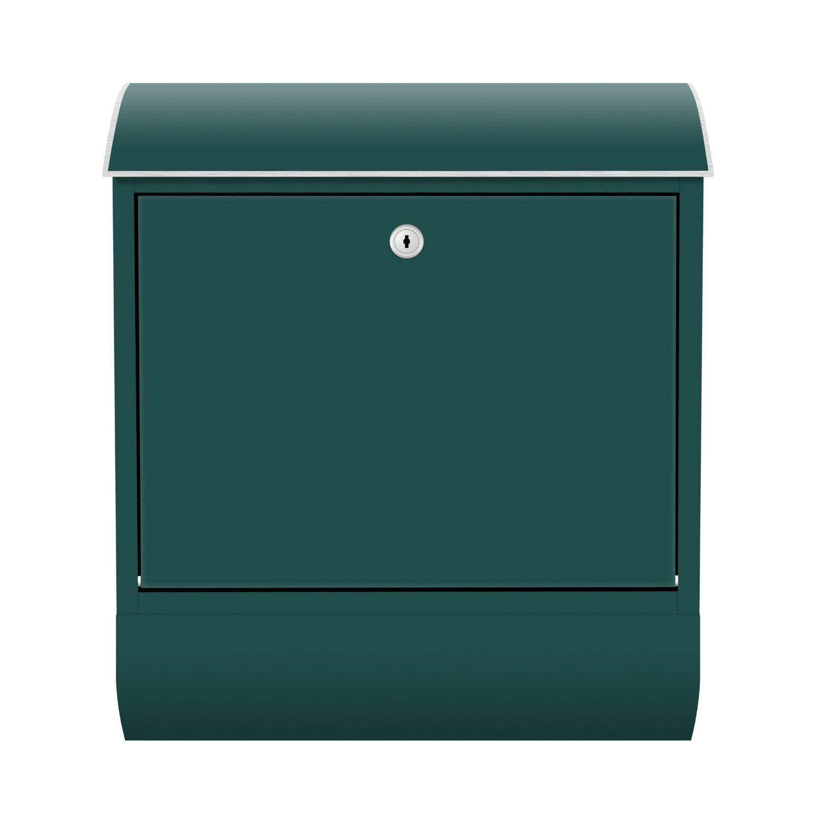 Design Briefkasten Zeitungsfach Petrol Farbe Bunt Abstrakt Retro Brief Letterbox