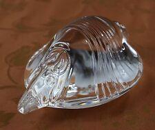 Steuben Lead Glass ARMADILLO No. 8405 by David Dowler, circa 1978-79