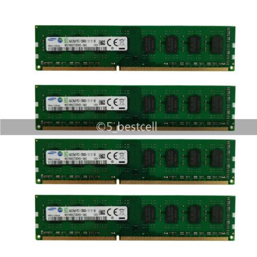 Samsung 16GB 4x 4GB DDR3-1600MHz PC3-12800 240PIN Desktop Memory Ram Unbuffered
