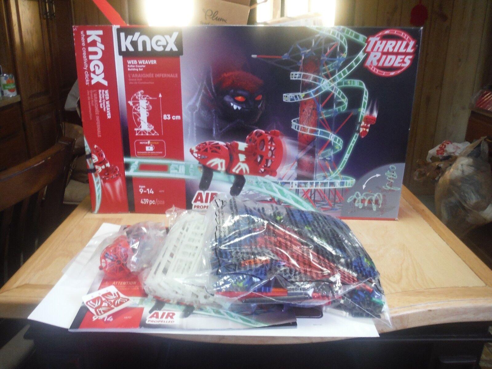 K'NEX Thrill Rides Web Weaver Roller Coaster Building Set New in Open Box