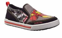 Stride Rite Slip On Shoes Iron Man Black Gray Red 8.5 M