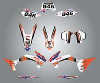 Full Custom Graphic Kit -aussie Pride - Ktm Exc - 2014 + Decal Kit / Stickers