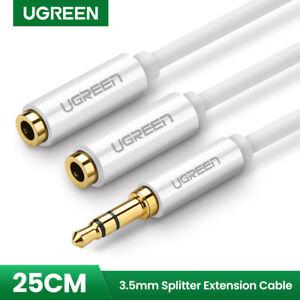 Ugreen-3-5-mm-audio-stereo-cable-Y-Splitter-adaptateur-pour-Ecouteur-casque-MP3-iPod