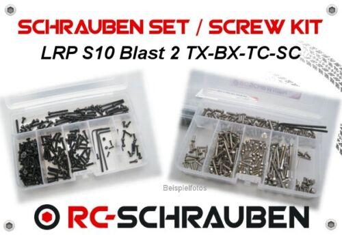 Jeu de vis pour le LRP s10 Blast 2 tc-BX-tx-sc Acier inoxydable /& Acier-ISK /& tx