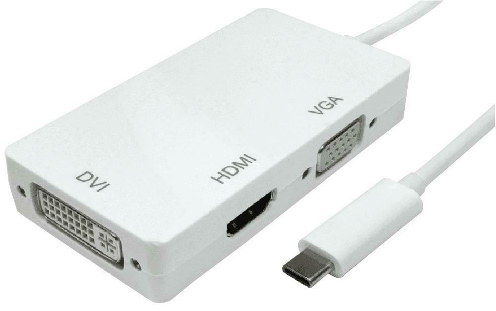 USB-C - HDMI/DVI/VGA ADAPTER, CONVERT FROM USB-C, CONVERT TO DVI, FOR UNBRANDED
