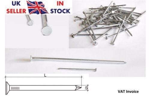 ZINCATO chiodi comune Liscio Shank Nails Bright Acciaio 5 dimensioni:25 50 70 100 125