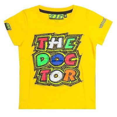 VR46 Valentino Rossi Moto GP Kids T Shirt Yellow The Doctor 206501 Size 6//7 yrs