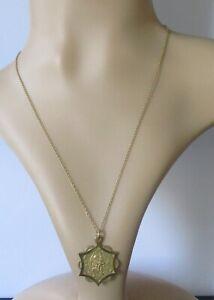 9ct-Collar-De-Oro-Vintage-9ct-oro-St-Christopher-Colgante-amp-9ct-Cadena-de-oro