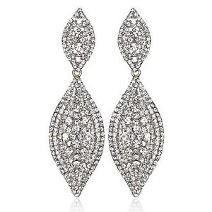 Image Is Loading Sparkle Austrian Crystal Rhinestone Chandelier Dangle Earring Prom