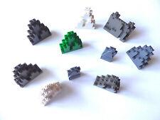 LEGO 5x Felsen Panel verschiedenen grautönen 6082 6083 gebraucht Ritter Piraten
