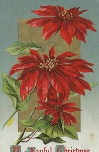 CE-207-A-Joyful-Christmas-Poinsettia-John-O-Winsch-Divided-Back-Postcard