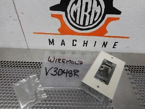 WIREMOLD-V3048R-Receptacle-Plate-Ivory-New-Old-Stock