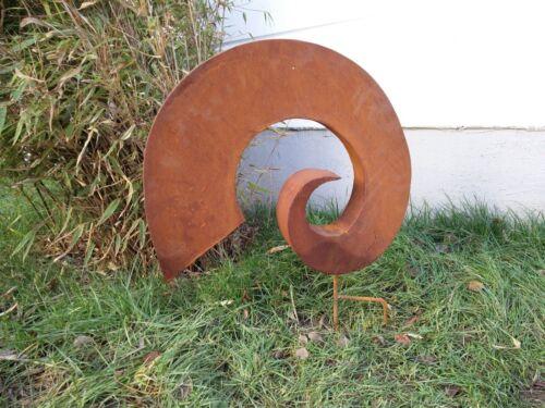 Edelrost Gartenstecker,Rost Gartenskulptur,Figuren Rost,GlückSymbol,Metall B50cm