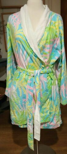 Lilly Pulitzer Bath Robe Terrycloth Lined Sz L