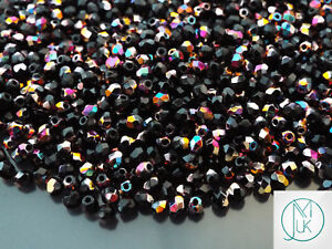 120-Pieces-Czech-Glass-3mm-Fire-Polished-Facelet-Beads-Jewelry-Making-73-Colors