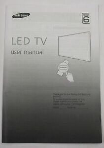 samsung genuine tv user manual series 6 bn68 06327f t ebay rh ebay co uk samsung led tv manual series 6 samsung led tv user manual series 6