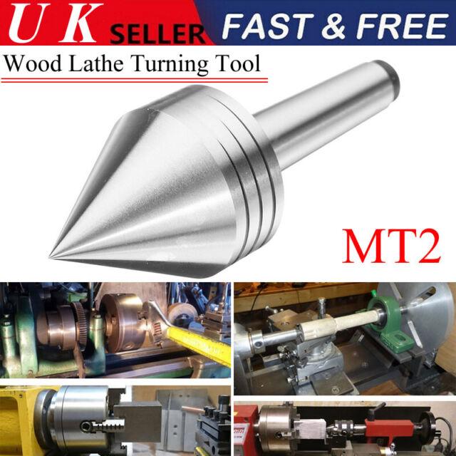 SCT Tailstock Revolving Live Centre MT2 1″ Diameter Head For Wood Lathe